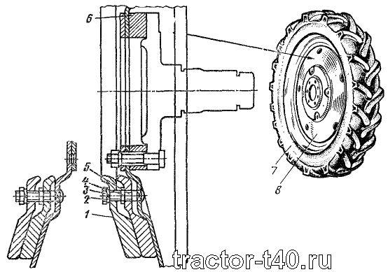 Колеса и шины трактора Т-40: