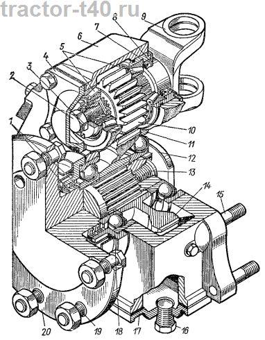 Схема редуктора переднего