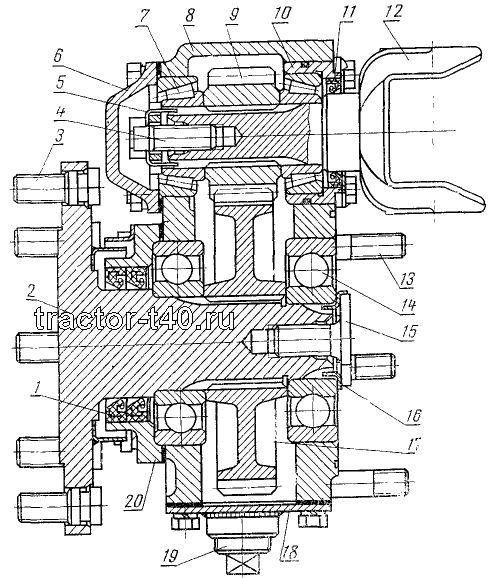 бортовой трактора Т-40: 1