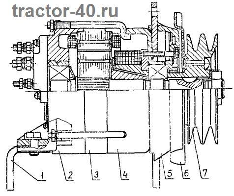 Схема генератора трактора