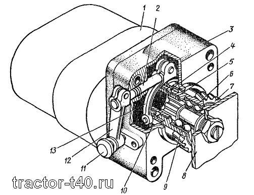 Привод масляного насоса Т-40