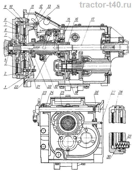 Схема сцепления трактора Т-40: